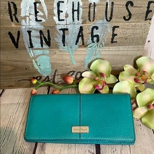 Cole Haan Village French Wallet Turquoise